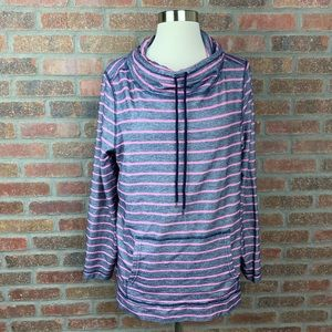 Talbots Outlet Striped Pullover Sweatshirt, Sz M